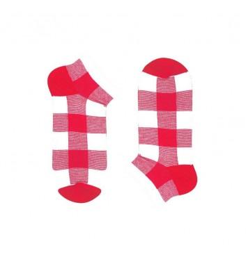 Короткие носки Sox Pink Beige Tartan