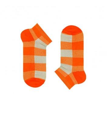 Короткие носки Sox Gray Orange Tartan