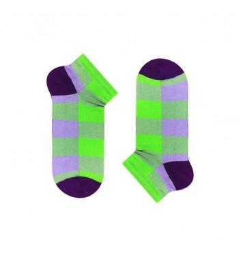 Короткие носки Sox Lime Violet Tartan
