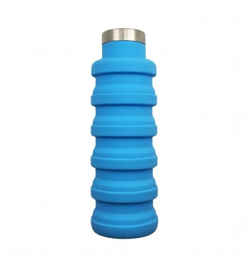 Складна пляшка для води Leaf Blue