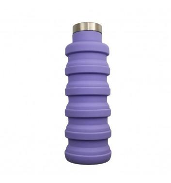 Раскладная бутылка для воды Leaf Violet