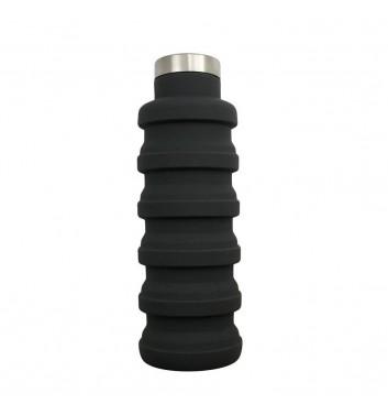 Раскладная бутылка для воды Leaf Black