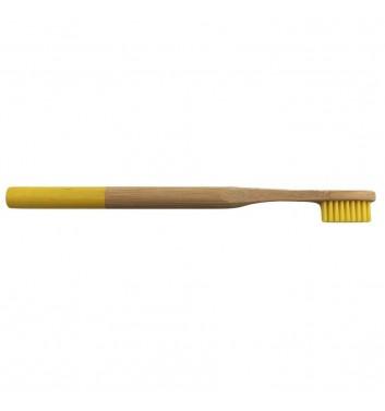 Бамбуковая зубная щетка Leaf Yellow