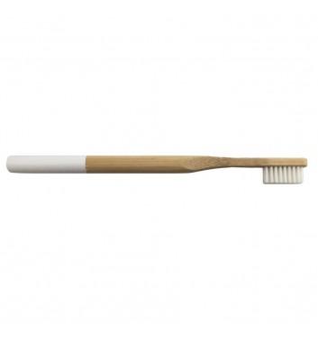 Бамбуковая зубная щетка Leaf White