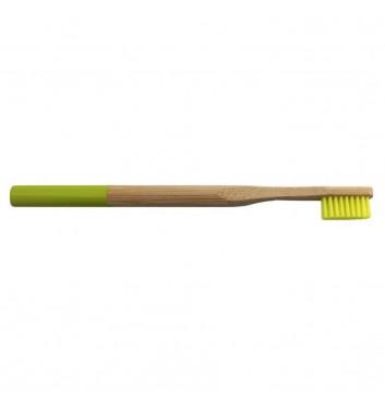 Бамбуковая зубная щетка Leaf Light Green