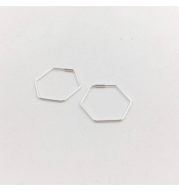 Серьги Argent jewellery Hexagon