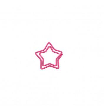 """Скрепка """"Star"""" Pink"""
