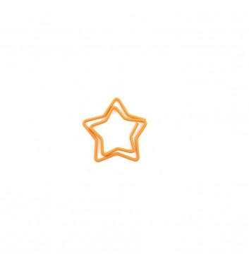 Скрепка Cuters Star Orange