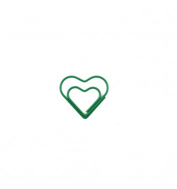 Скрепка Cuters Heart Green