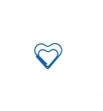 Скрепка Cuters Heart Blue