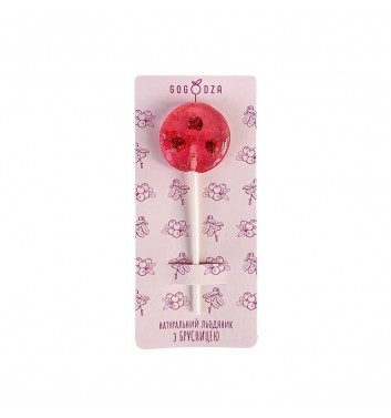 Natural Lollipop Gogodza Cranberry