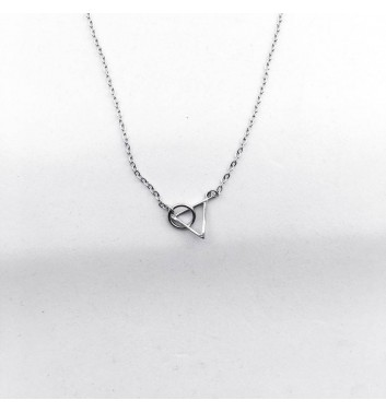 Pendant Argent jewellery Triangle and circle