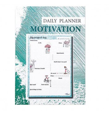 Daily planner tear-off Lifeflux A5 My perfect day Motivation