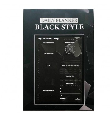 Daily planner tear-off Lifeflux A5 My perfect day Black Style