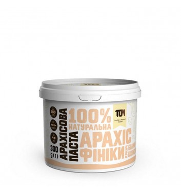 Peanut Butter TOM (Maslotom) CRUNCHY WITH DATES & WHITE CHOCOLATE 300g