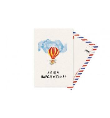 Открытка Mirabella postcards Воздушный шар