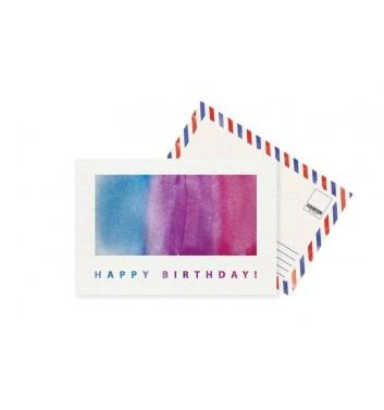 Листівка Mirabella postcards Happy Birthday Space