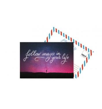 Открытка Mirabella postcards Follow magic