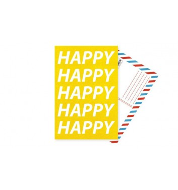 Листівка Mirabella postcards Happy Happy