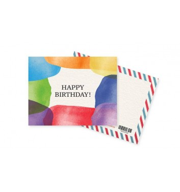 Міні-листівка Mirabella postcards Happy Birthday Colors