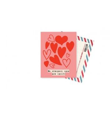 Мини-открытка Mirabella postcards Созданы друг для друга