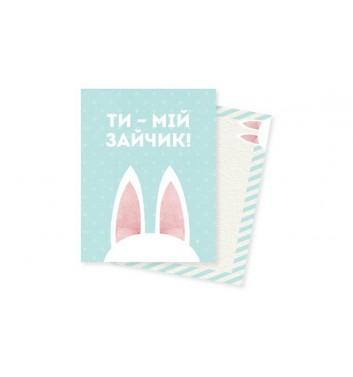 Мини-открытка Mirabella postcards Зайчик