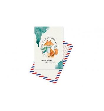 Листівка Mirabella postcards Fox