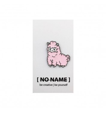Значок No name Lama Pink