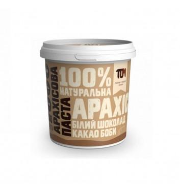 Арахісова паста TOM (Maslotom) з какао бобами та білим шоколадом 500 г