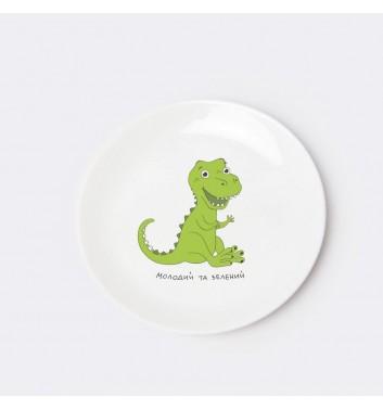 Детская тарелка Orner Store Динозавр