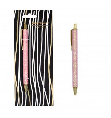 "Ручка-автомат з блискітками ""Pink sequins"" Olena Redko"