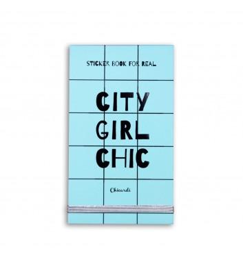 Книга с наклейками (33 Письма) Sticker Book For Real City Girl Chic, Chicardi Olena Redko