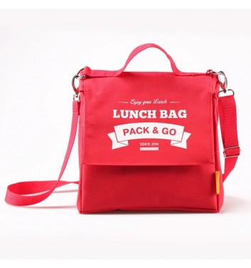 Lunch-bag Pack and Go L+ Червоний