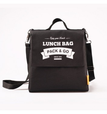 Lunch-bag Pack and Go L+ Чорний
