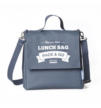 Lunch-bag Pack and Go L+ Сірий