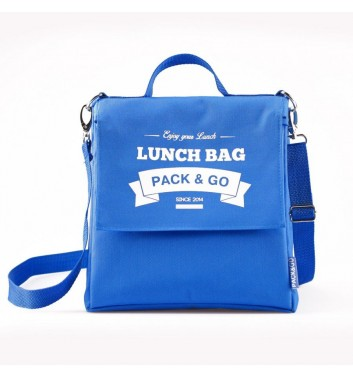Lunch-bag Pack and Go L+ Блакитний