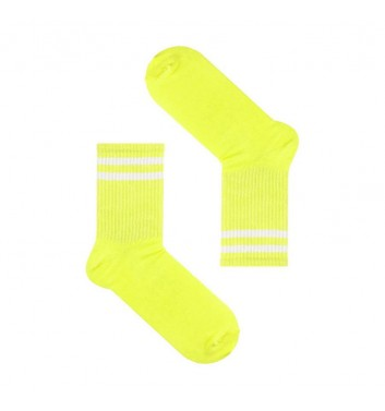 Шкарпетки Sox Жовті з білими полосками
