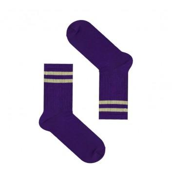 Шкарпетки Sox Фіолетові з сірими лініями