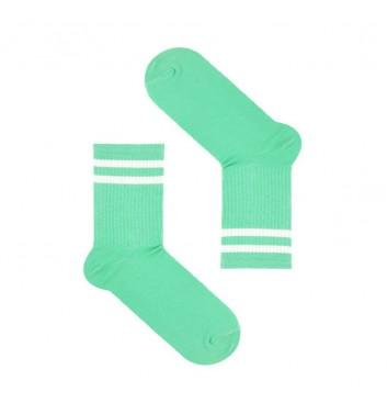 Шкарпетки Sox Бірюзові з білими лініями