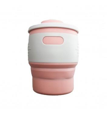Складна термочашка Leaf Pink