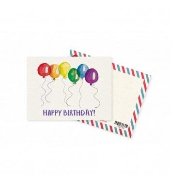 Мини-открытка Mirabella postcards Happy birthday baloon