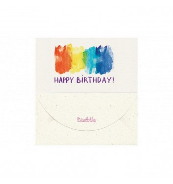 Конверт для денег Mirabella postcards Happy birthday watercolor