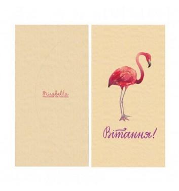 Конверт для денег Mirabella postcards Фламинго