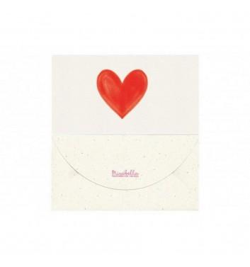 Конверт для грошей Mirabella postcards Серце