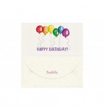 Конверт для денег Mirabella postcards Happy birthday balls