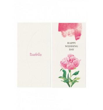 Конверт для грошей Mirabella postcards Happy wedding day peony