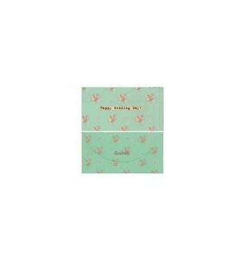 Конверт для грошей Mirabella postcards Happy wedding day green