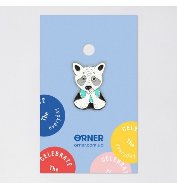 Значок Orner Store Енот сладкоежка