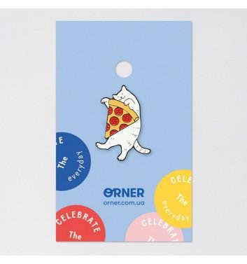 Значок Orner Store Кіт з піцою