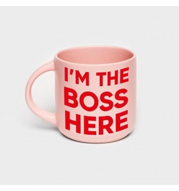 Чашка рожева Orner Store I'm the boss here
